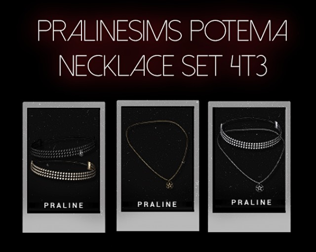 "Pralinesims ""Potema Necklace set"" 4T3 [conversion] by jesod-sims"