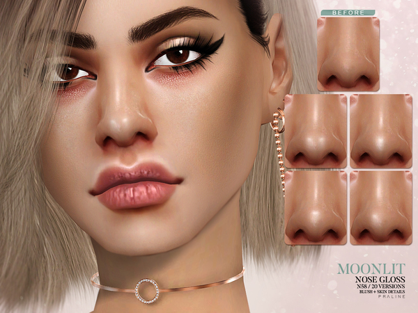 Moonlit Nose Gloss N58 by Pralinesims
