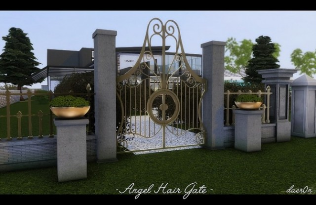 Angel Hair Fence, Gate & Regal Rock Planter by daer0n