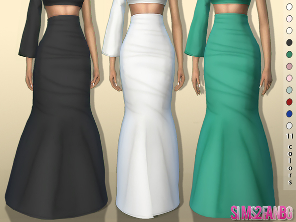361 - 3D High Long Skirt by sims2fanbg