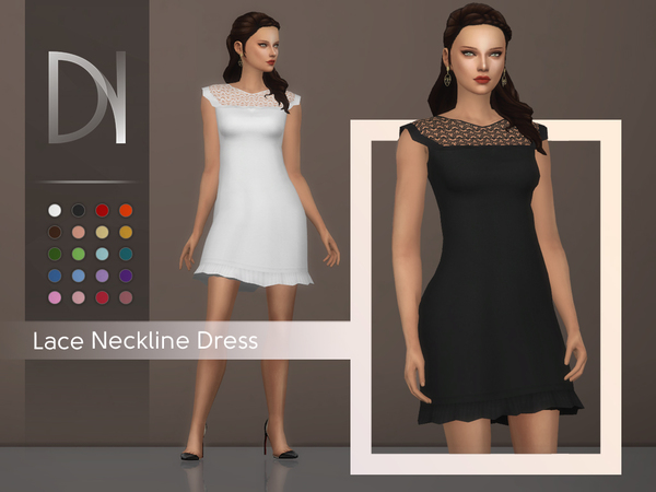 Lace Neckline Dress by DarkNighTt