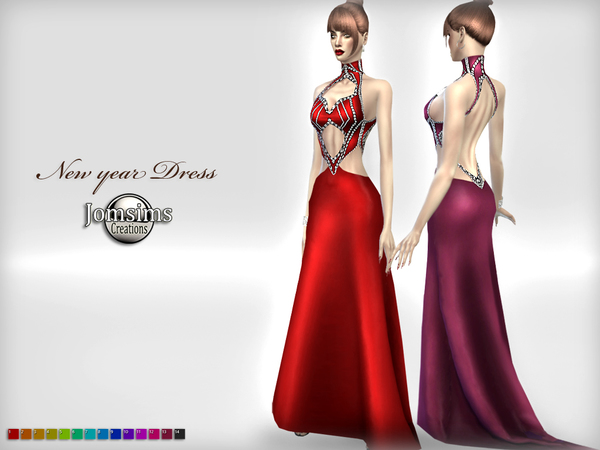 New year dress by jomsims