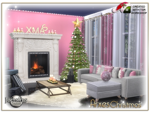 Arxes christmas living room by jomsims
