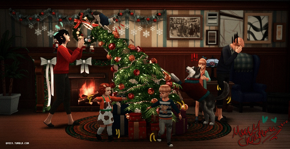 Qvoix Group Pose N09 + Tilted Christmas Tree by qvoix