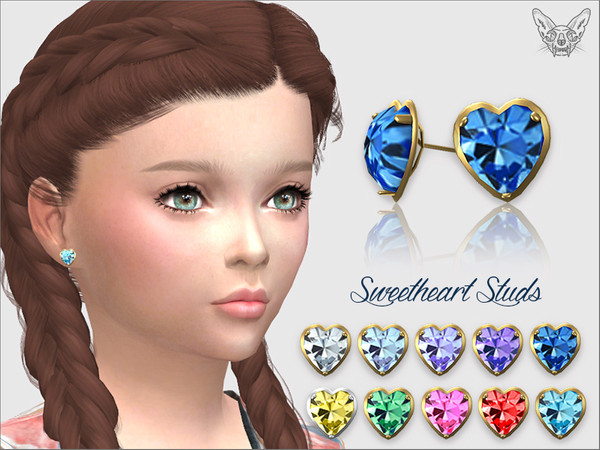 Sweetheart Studs For Kids by feyona
