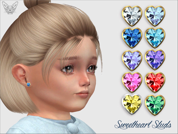 Sweetheart Studs For Toddlers by feyona