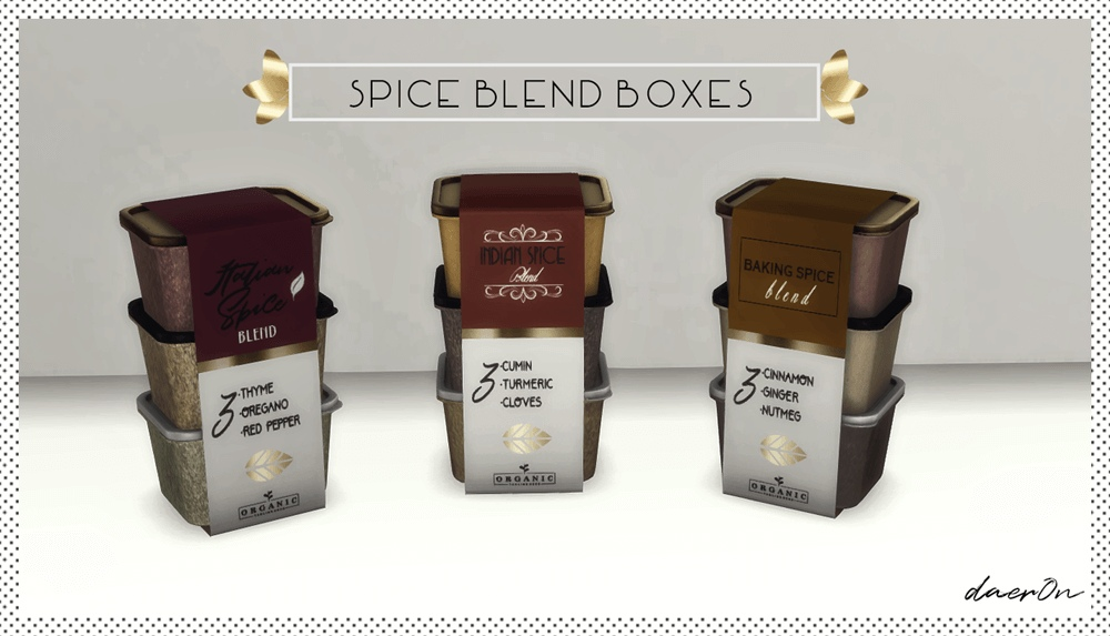 Spice blend boxes by Daer0n