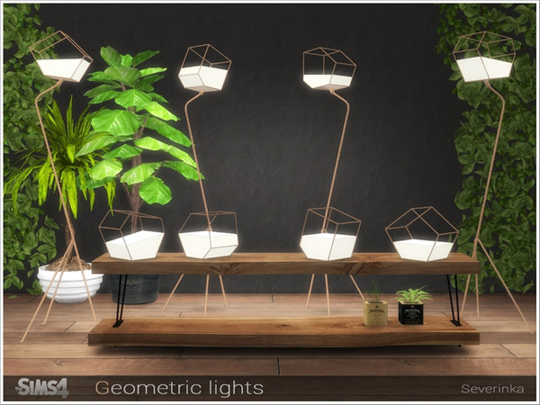 Geometric lights by Severinka