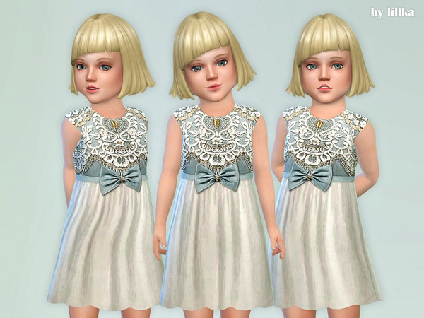 Embroidered Lace Fit Dress by lillka