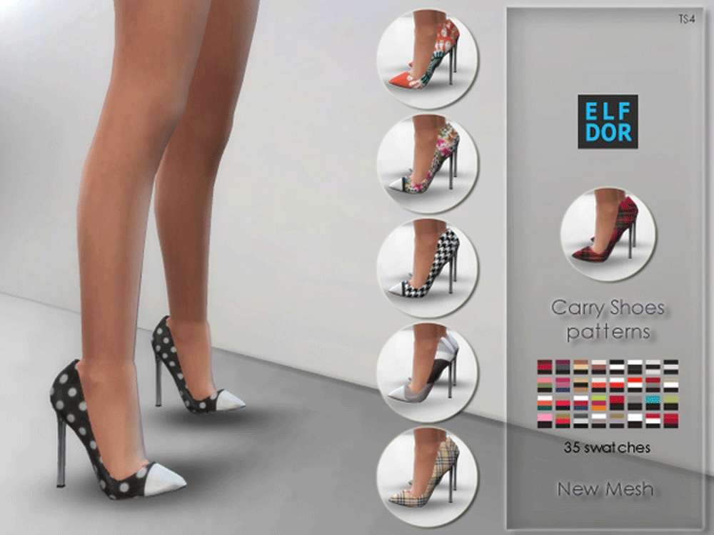 Carry Shoes Patterns by Elfdor
