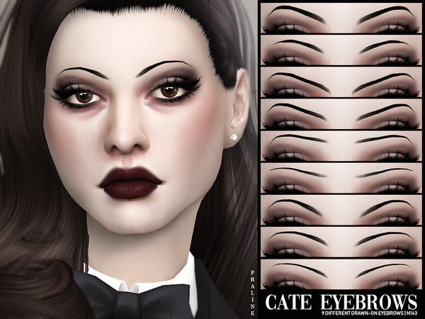 Cate Eyebrows N143 by Pralinesims