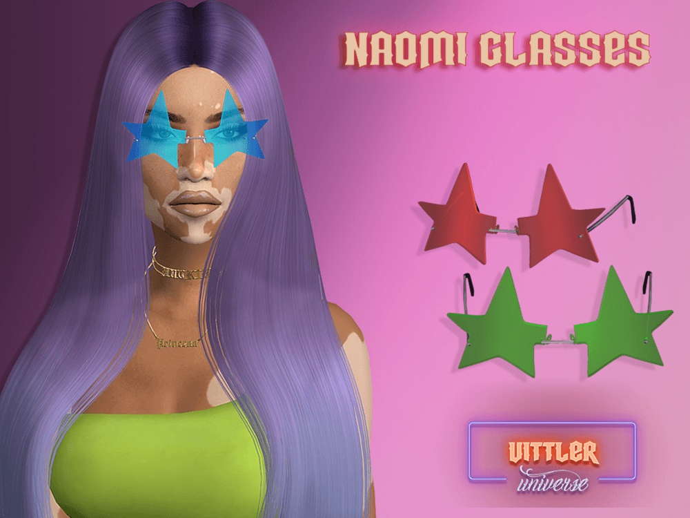 Noami Glasses With Acc by Vittler Universe