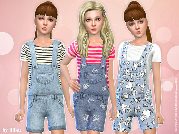 Printed Shorts Overall 03 by lillka