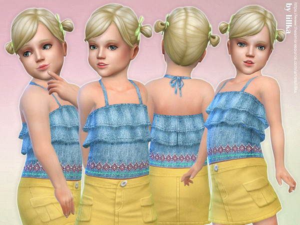 Denim Ruffle Top by lillka
