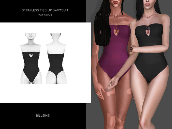 Strapless Tied Up Swimsuit by Bill Sims