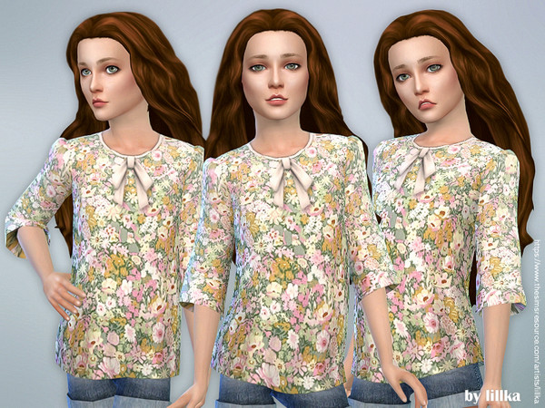 Printed Blouse for Girls by lillka