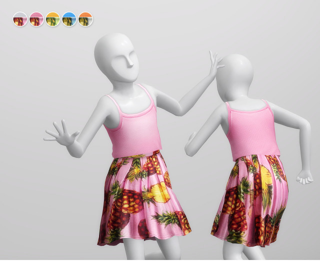 Pineapple Two-Piece for Kids by Rusty Nail