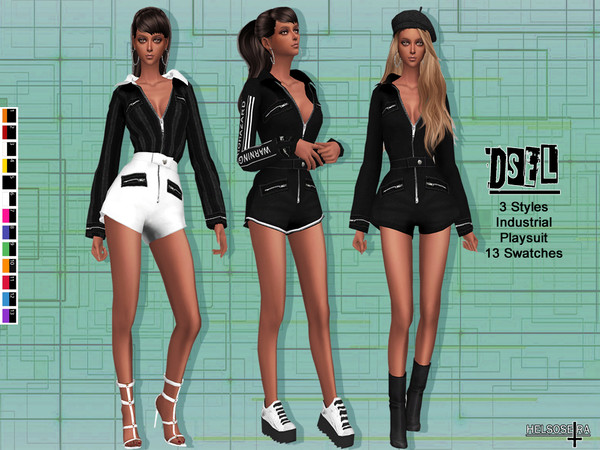 DSEL - Industrial Playsuit by Helsoseira