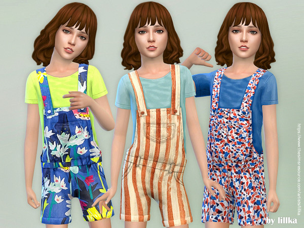 Printed Shorts Overall 04 by lillka