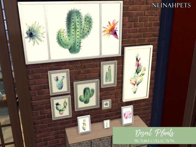 Desert Plants Painting Collection-REQUIRES CITY LIVING by neinahpets