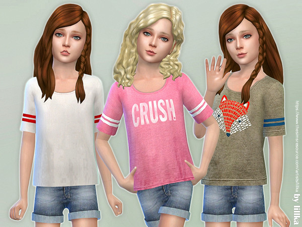 Casual Tee for Girls by lillka