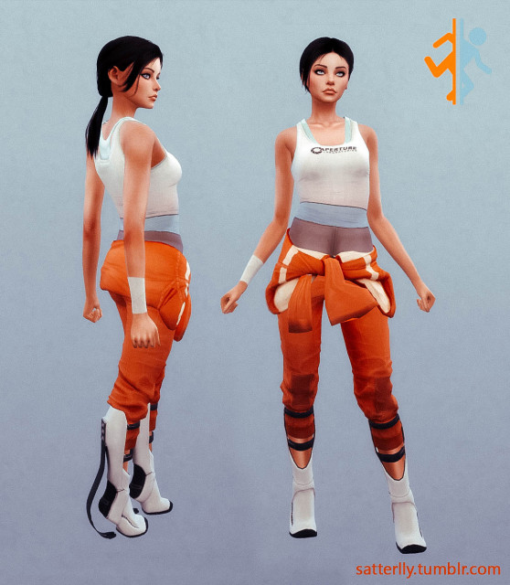 Chell outfit (Portal 2) by satterlly