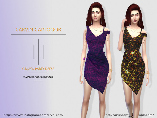 Black Party Dress by carvin captoor