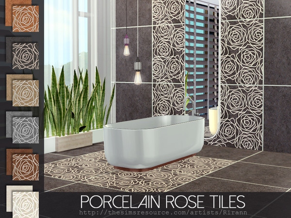 Porcelain Rose Tiles by Rirann
