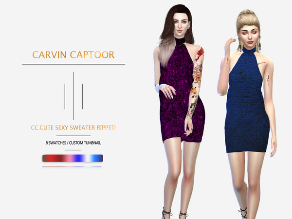 CC.cute sexy sweater ripped by carvin captoor