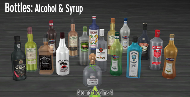 Bottles: Alcoholic drinks & Syrup by Sandy