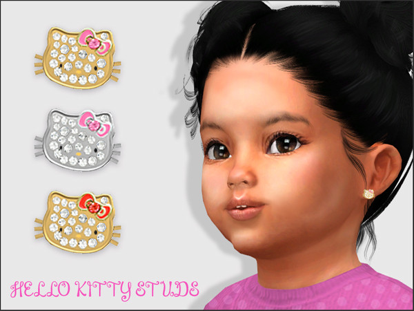 Hello Kitty Studs For Toddlers by feyona