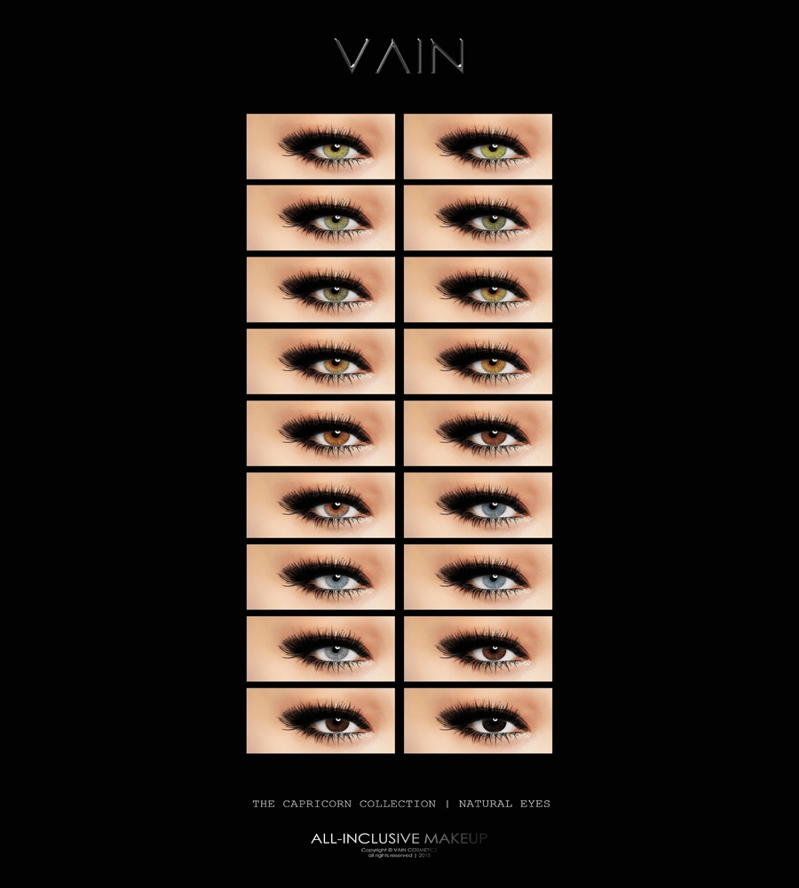 Capricorn Collection Of Natural Eye Contacts by VAIN (MAC Cosimetics)