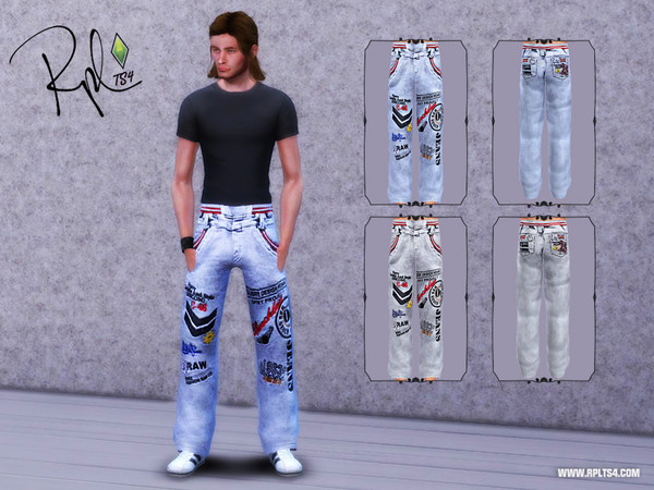 M Chicklets Printed Full Length Jeans by RobertaPLobo