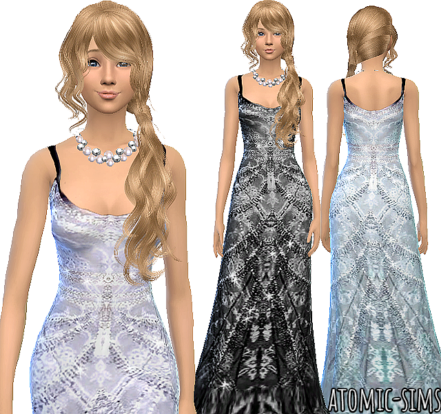 Desiresims gown conversion by Atomic-sims