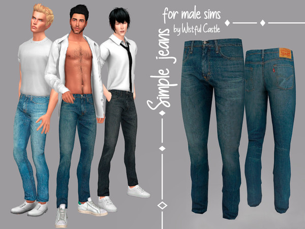 Simple jeans - for male sims by WistfulCastle