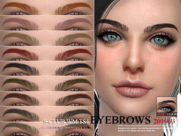 S-Club WM ts4 Eyebrows 201903