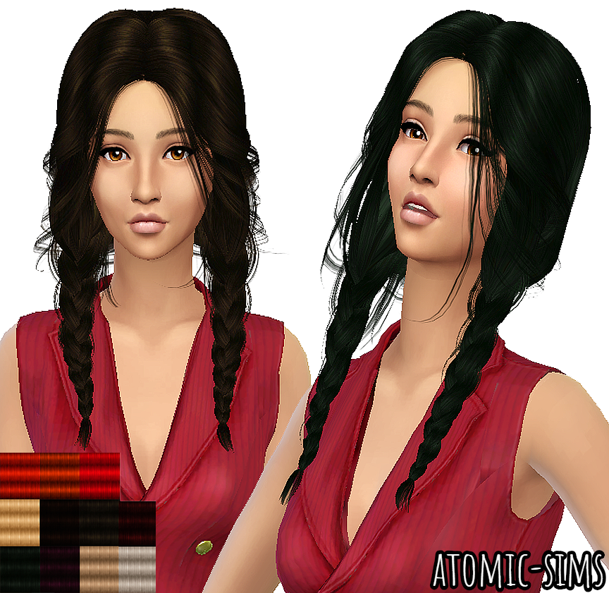Peggy Female Hair 4669 retexture by Atomic-sims