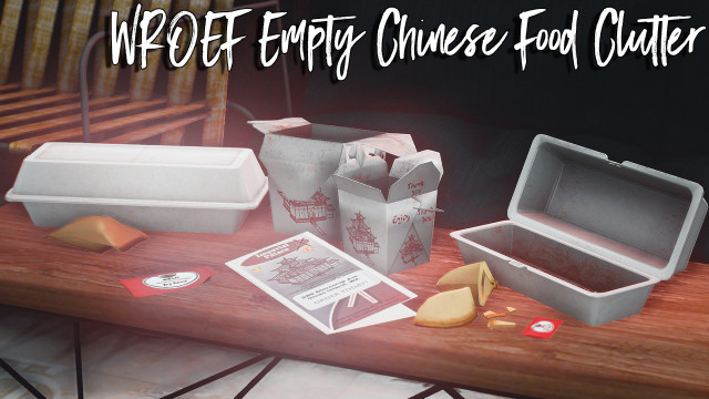 TS4 TO TS3 WROEF Empty Chinese Food Clutter by teakoya