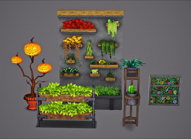 October Gift 1 - TS4 Plant Conversions by Mspoodle1