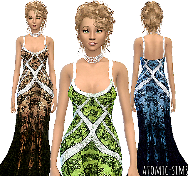 Glamsim Alicia Keys gown conversion by Atomic-sims