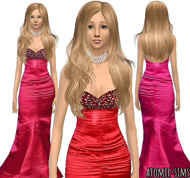 Glamsim Geena Davis gown conversion by Atomic-sims