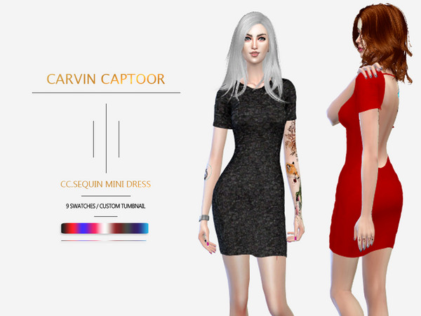 CC.sequin mini dress by carvin captoor