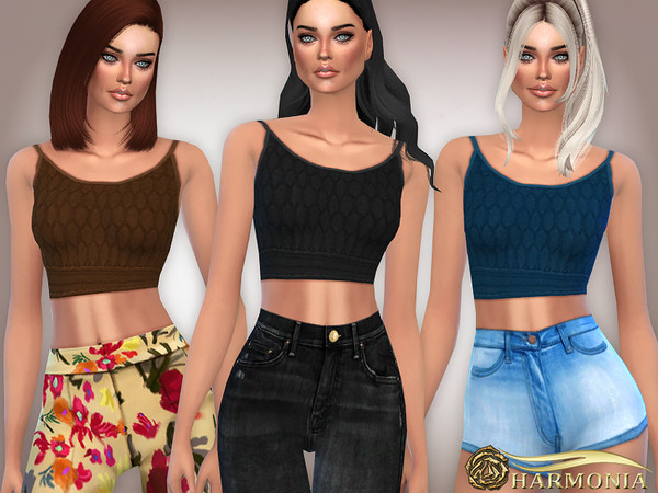 Patterned Knit Crop Top by Harmonia