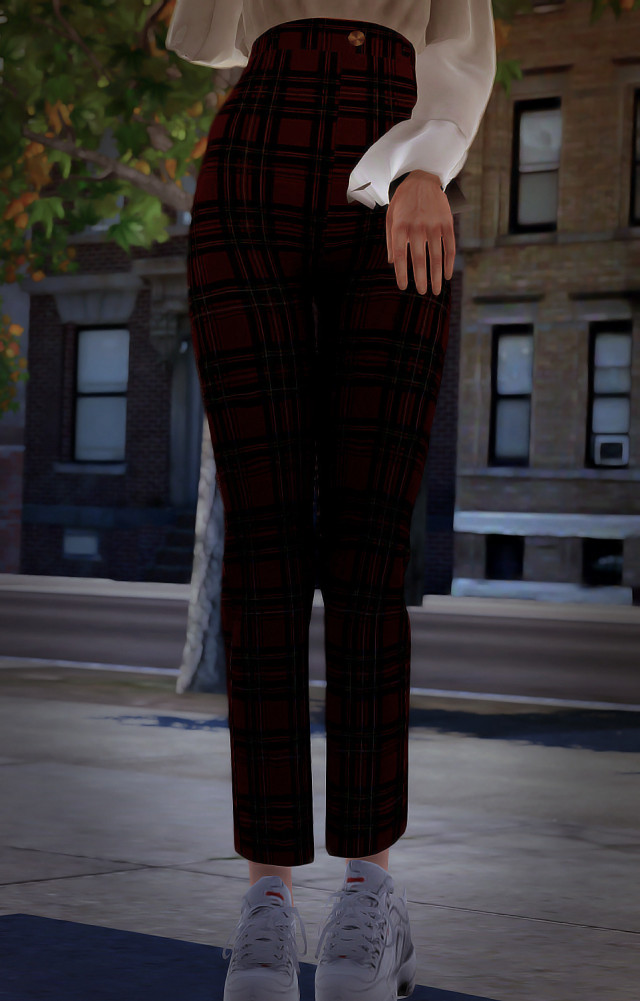 Style Loft Check Trousers by thenaturecollective