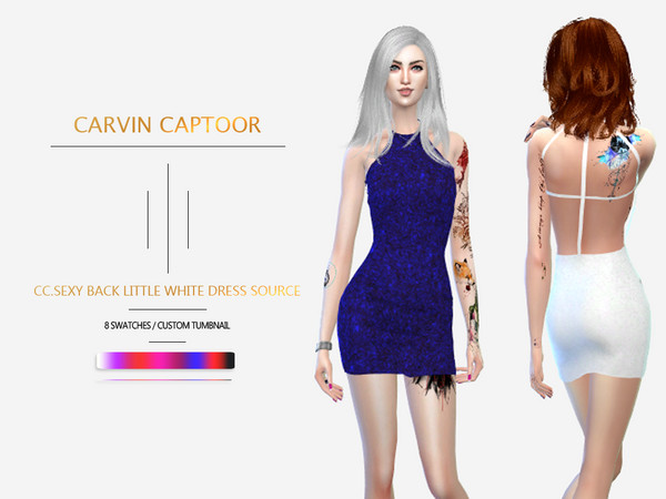 CC.Sexy Back Little White Dress Source by carvin captoor