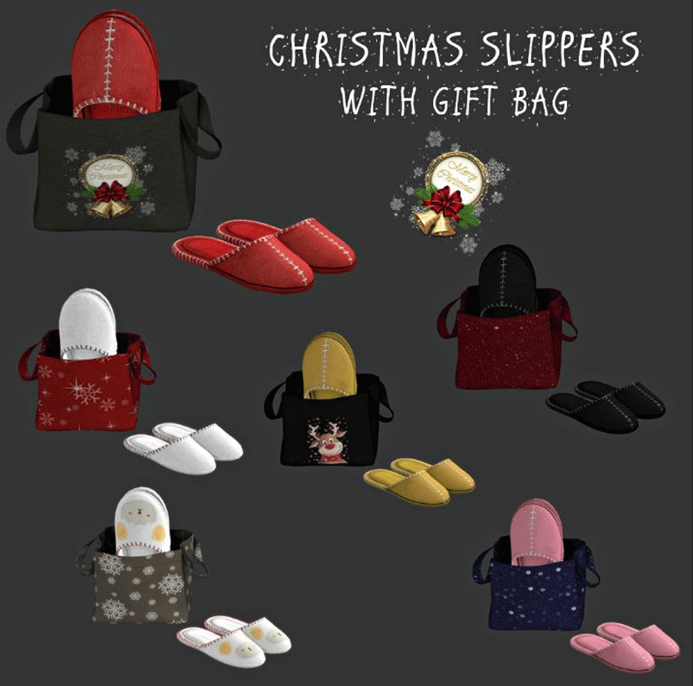Christmas slippers slippers bag by Leo-Sims