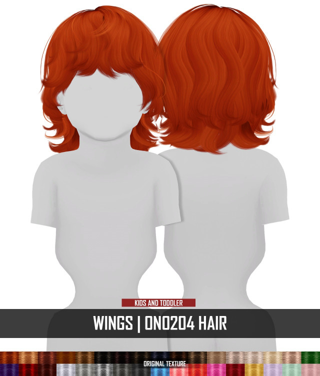 WINGS ON0204 HAIR - KIDS AND TODDLER VERSION by RedHeadSims