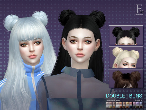 ts4 double-buns by S-Club
