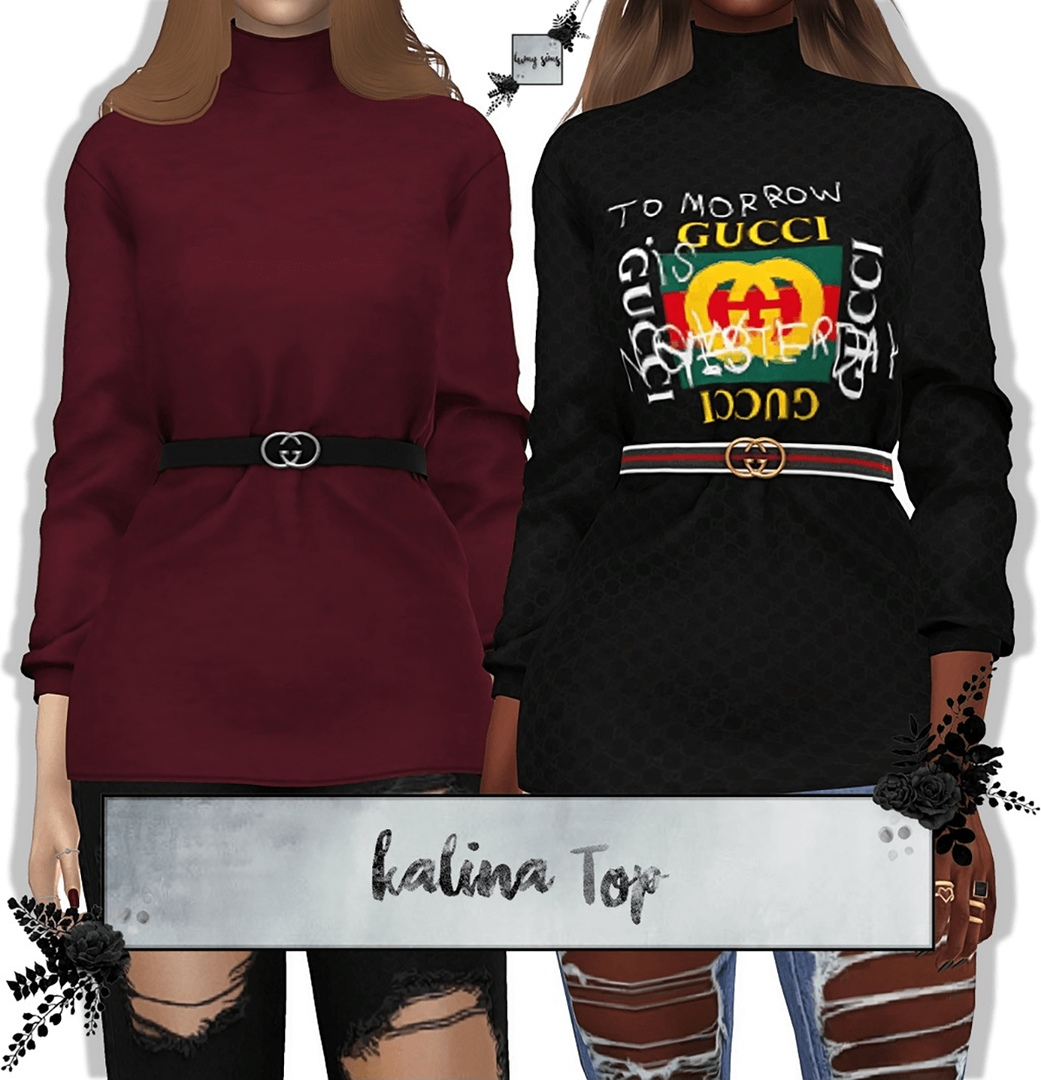 Kalina Top by Lumy-Sims