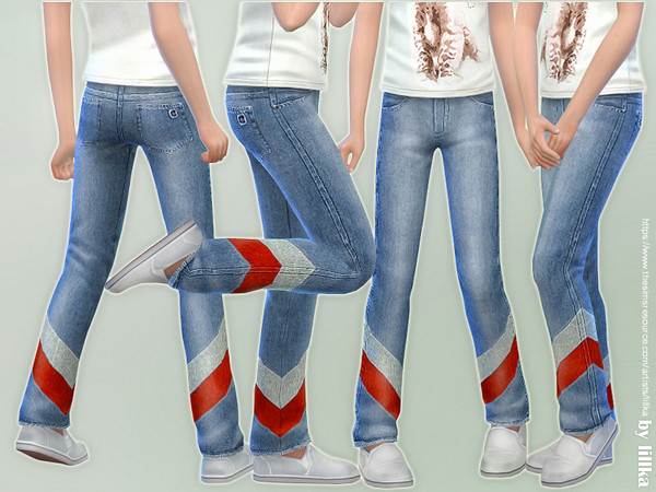 Girls Basic Jeans 03 by lillka